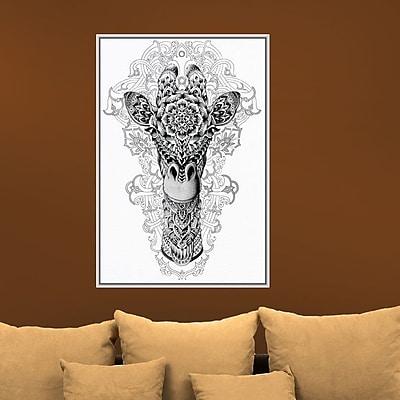My Wonderful Walls Ornate Giraffe Head by BioWorkZ Wall Decal; Large