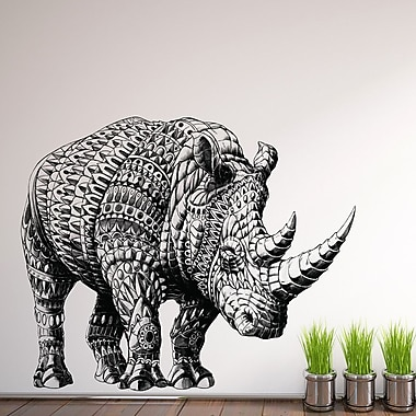 My Wonderful Walls Ornate Rhinoceros by BioWorkZ Wall Decal; Small
