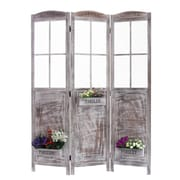 Screen Gems 70'' x 51'' Flower Pot Garden 3 Panel Room Divider
