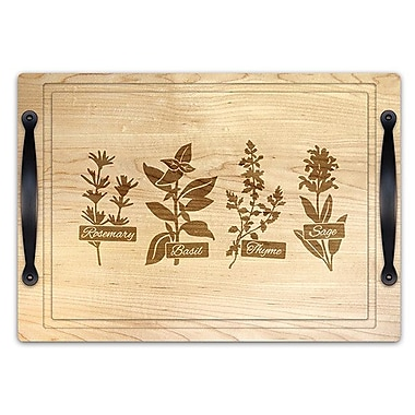 Martins Homewares Herb Garden Carves and Serve Cheese Tray