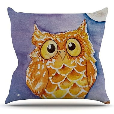 KESS InHouse Little Hoot by Padgett Mason Outdoor Throw Pillow
