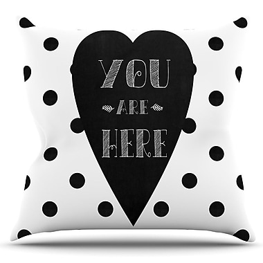 KESS InHouse You Are Here by Skye Zambrana Outdoor Throw Pillow