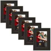 Uniek Kieva Distressed Wood Picture Frame (Set of 6); 4'' x 6''