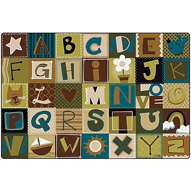 Carpets for Kids Premium Collection Toddler Alphabet Blocks Nature Area Rug