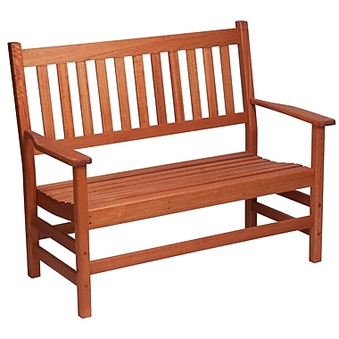 Hinkle Chair Company Red Grandis Wood Garden Bench