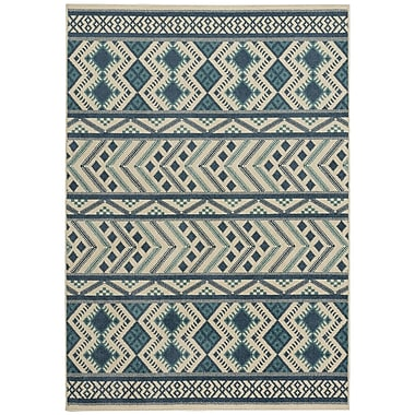 Capel Genevieve Gorder Blue Indoor/Outdoor Area Rug; 5'2'' x 7'6''