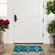 Harbormill Hand-Tufted Turquoise Area Rug; 2' x 3'
