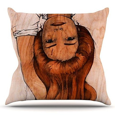 KESS InHouse Girl by Brittany Guarino Outdoor Throw Pillow