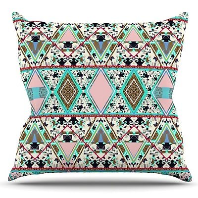 KESS InHouse Deco Hippie by Vasare Nar Outdoor Throw Pillow