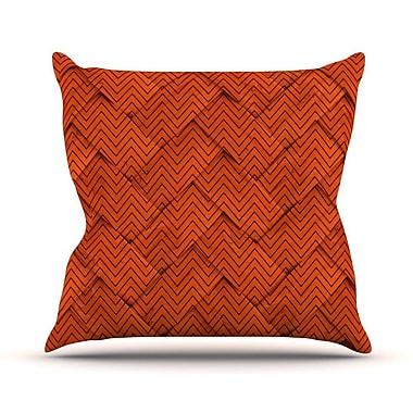 KESS InHouse Chevron Weave Outdoor Throw Pillow