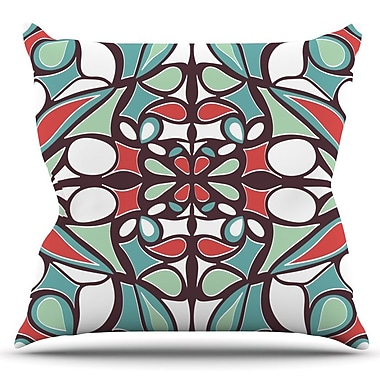 KESS InHouse Round Tiles by Miranda Mol Outdoor Throw Pillow