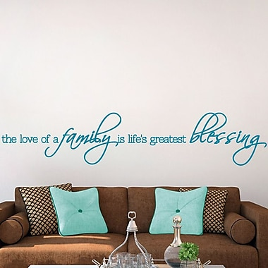 SweetumsWallDecals The Love Of A Family Wall Decal; Teal
