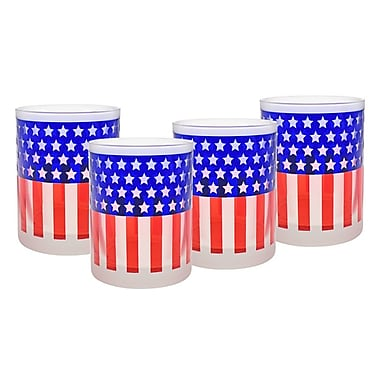 Culver Flag 14 Oz. Double Old Fashion Glass (Set of 4)