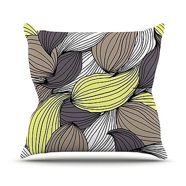KESS InHouse Wild Brush Outdoor Throw Pillow