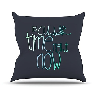 KESS InHouse Cuddle Time Mint Outdoor Throw Pillow