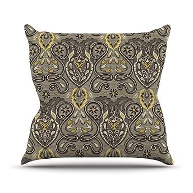 KESS InHouse Vintage Damask Outdoor Throw Pillow