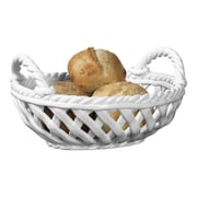 Tabletops Gallery Oval Bread Basket; White