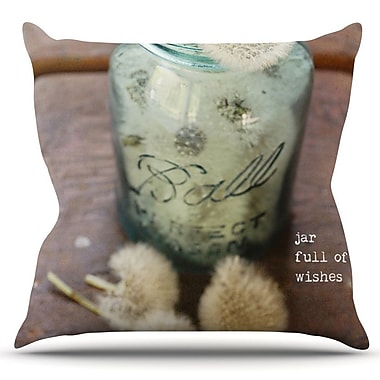 KESS InHouse Jar of Wishes by Debbra Obertanec Outdoor Throw Pillow