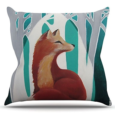 KESS InHouse Fox Forest by Lydia Martin Outdoor Throw Pillow