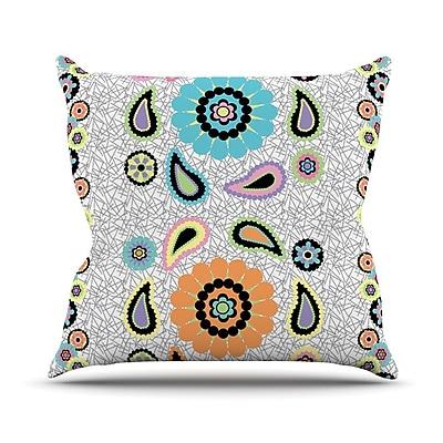 KESS InHouse Moda Paisley Outdoor Throw Pillow