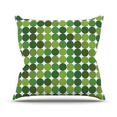 KESS InHouse Noblefur Outdoor Throw Pillow; Green