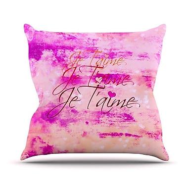 KESS InHouse Je T'aime Outdoor Throw Pillow
