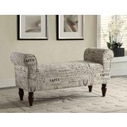 Roundhill Furniture Aspell Upholstered Bedroom Bench