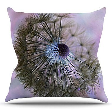 KESS InHouse Dandelion Clock by Alison Coxon Outdoor Throw Pillow