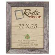 RusticDecor Barn Wood Reclaimed Wood Extra Wide Wall Picture Frame; 28'' H x 22'' W x 1'' D