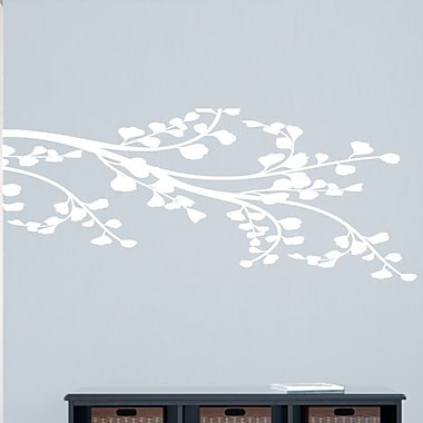 SweetumsWallDecals Corner Leafy Branch Wall Decal; White