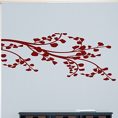SweetumsWallDecals Corner Leafy Branch Wall Decal; Cranberry