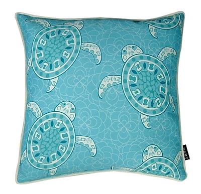 lava Sea Turtles Indoor/Outdoor Throw Pillow