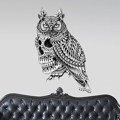 My Wonderful Walls Ornate Great Horned Skull by BioWorkZ Wall Decal; Small