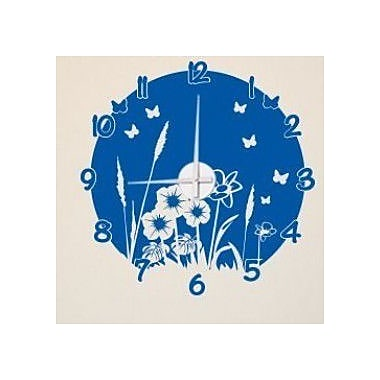 Style and Apply Meadow Wall Clock Wall Decal; Royal Blue