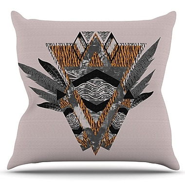 KESS InHouse Indian Feather by Vasare Nar Outdoor Throw Pillow