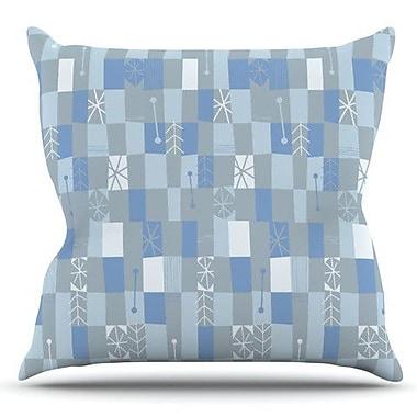 KESS InHouse Nature Check Winter by Allison Beilke Outdoor Throw Pillow