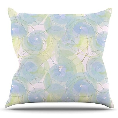 KESS InHouse Paper Flower by Alison Coxon Outdoor Throw Pillow