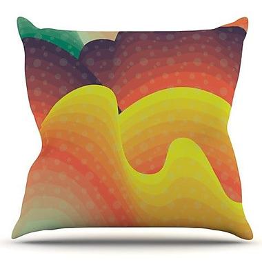 KESS InHouse Waves Waves by Akwaflorell Outdoor Throw Pillow