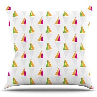 KESS InHouse Triangles by Apple Kaur Designs Outdoor Throw Pillow