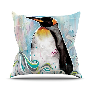 KESS InHouse King Penguin Outdoor Throw Pillow