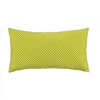 Grouchy Goose Green Micro Dot Lumbar Pillow