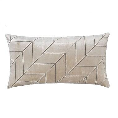 Grouchy Goose Cut Velvet Chevron Lumbar Pillow