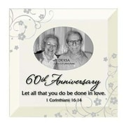 Dexsa Simple Expressions ''60th Anniversary'' Beveled Glass Picture Frame