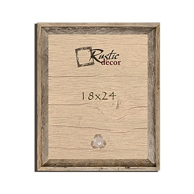 RusticDecor Barn Wood Reclaimed Wooden Signature Wall Picture Frame; 24'' H x 18'' W x 2'' D