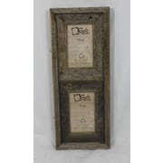RusticDecor Barn Wood Vertical 2 Opening Picture Frame; 6'' H x 4'' W x 2'' D