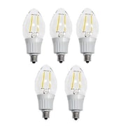 Artiva USA 4 Watt Candelabra LED Light Bulb [Pack of 5]