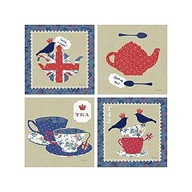 Thirstystone 4 Piece Royal Tea Assorted Coaster Set