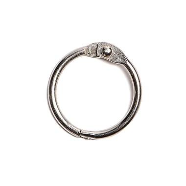 Kostklip – Anneaux en métal à charnière encliquetable, 1 po, nickel, 100/paq. (RGMH-100467)