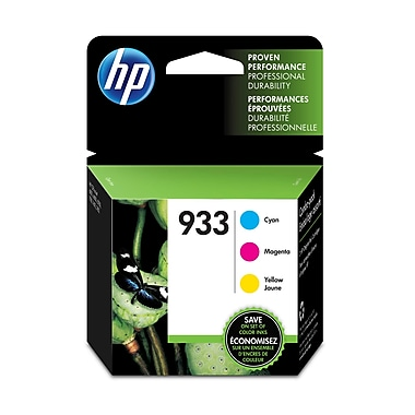 HP 933 Cyan, Magenta & Yellow Original Ink Cartridges, 3/Pack (N9H56FN)