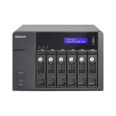 QNAP (TVS-671-i3-4G-US) 6-Bay High-Performance Turbo vNAS with 4K, 4GB RAM